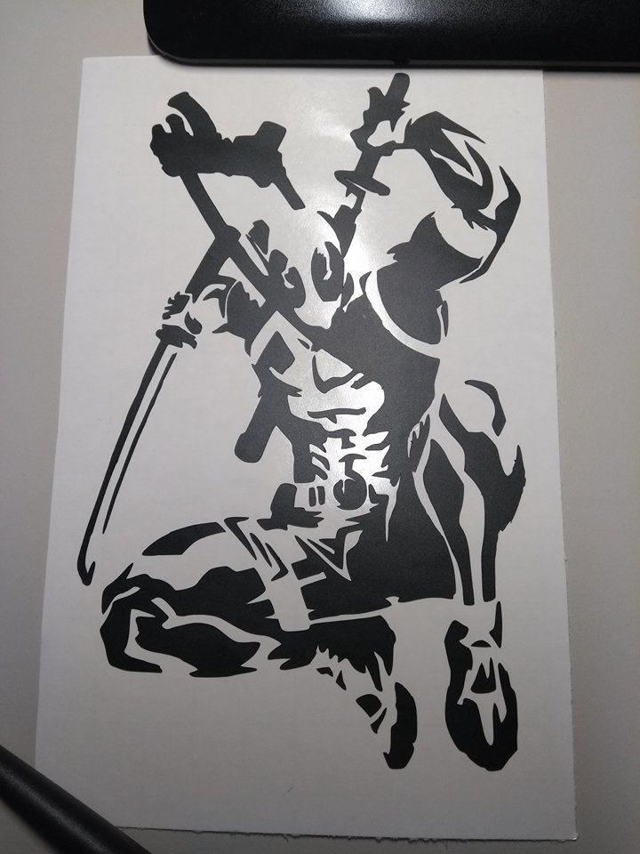 Deadpool Stencil Car Decal Vinylsticker