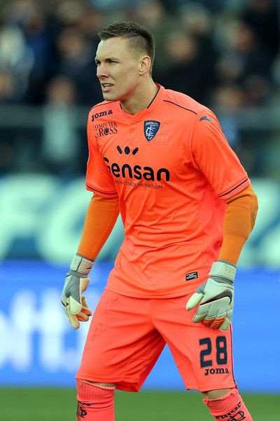 Lukasz Skorupski of Empoli FC reacts during the Serie A match between Empoli FC and Genoa CFC at Stadio Carlo Castellani on March 5, 2017 in Empoli, Italy.