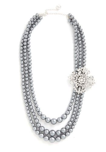 Endless Elegance Necklace. A special occasion calls for a once-in-a-lifetime accessory. #grey #wedding #modcloth
