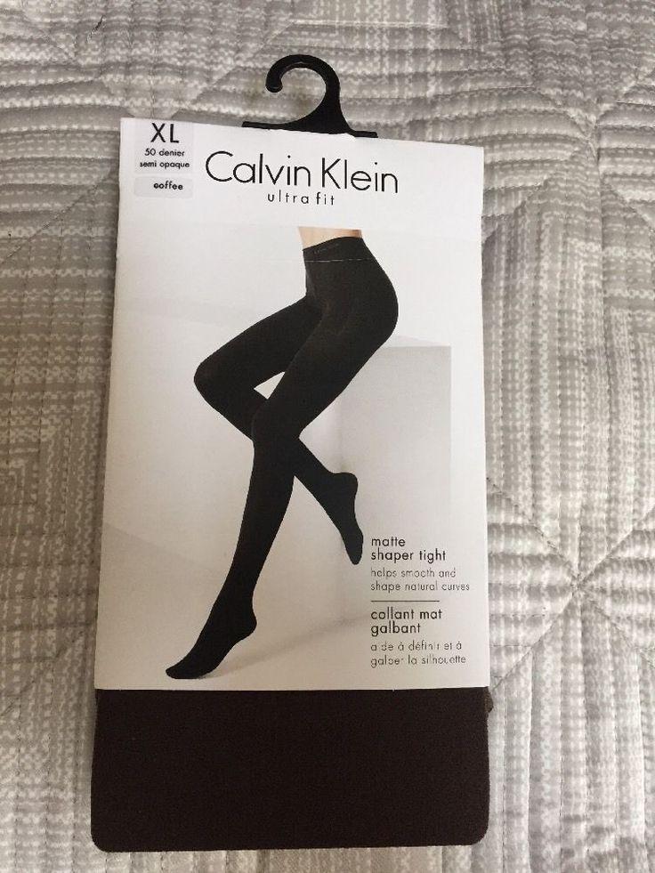 CK CALVIN KLEIN ULTRA FIT TIGHTS XL 50Den SHAPER Matte Semi Opaque BNWT RRP£16