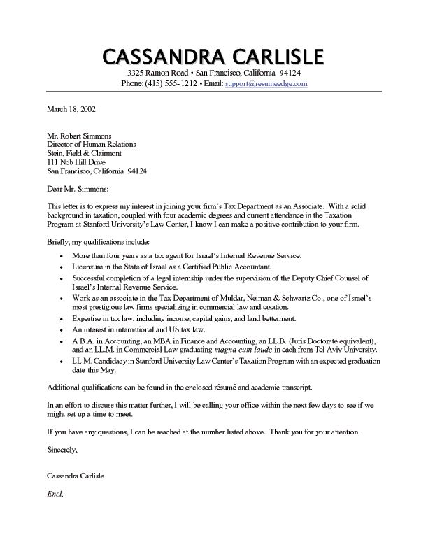 Resume Cover Letter Free Cover Letter Example  Sample Cover
