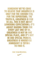 Greatness, a Nike hockey quote
