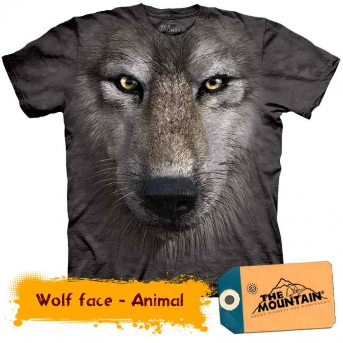 Tricouri The Mountain – Tricou Wolf Face