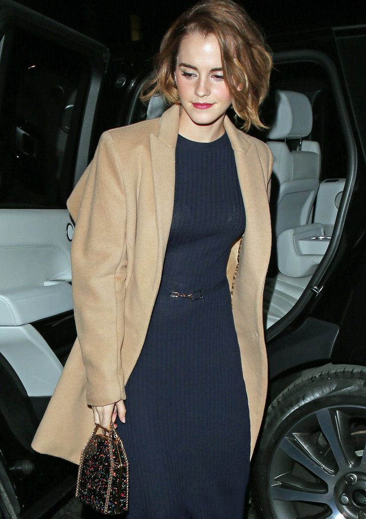 Emma Watson's Sparkly Handbag Is So Brilliant, We Wish It'd Apparate Into Our Closets