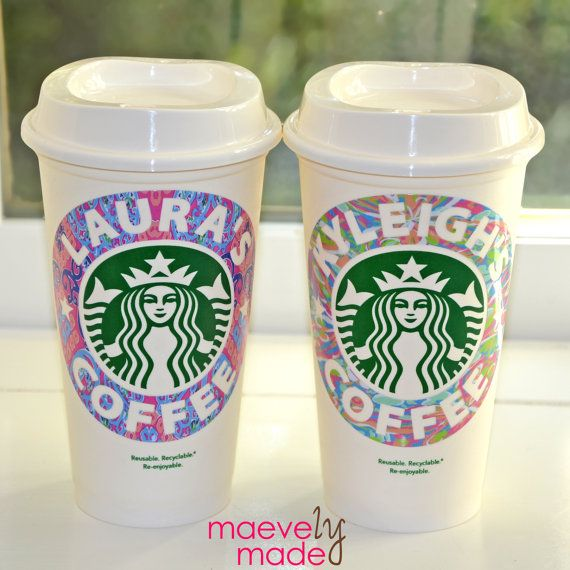 Personalized Lilly Pulitzer Starbucks Cup, Reusable | Professional Urban Preppy Hipster | Gift Birthday* Teen Tween* Teacher* Party Favor*