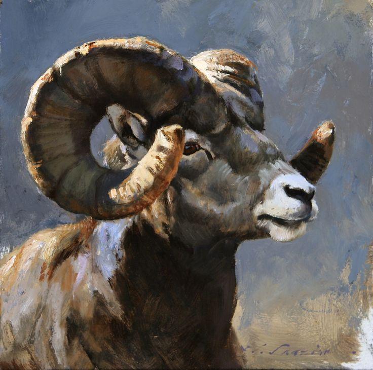 113 best Art - Bighorn Sheep images on Pinterest | Wildlife art ...