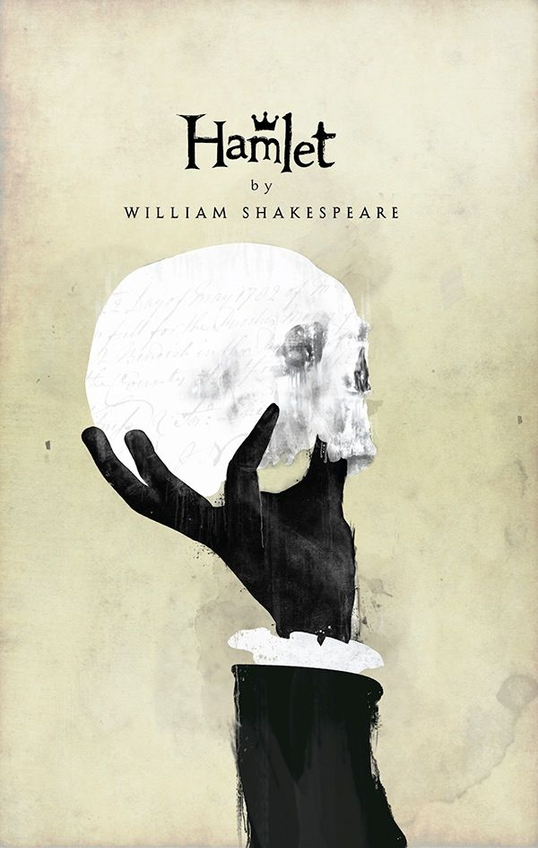 """Chris Hall re-imagines Shakespeare through these Covers on Behance """"Hamlet Book Cover"""" (2013)"""