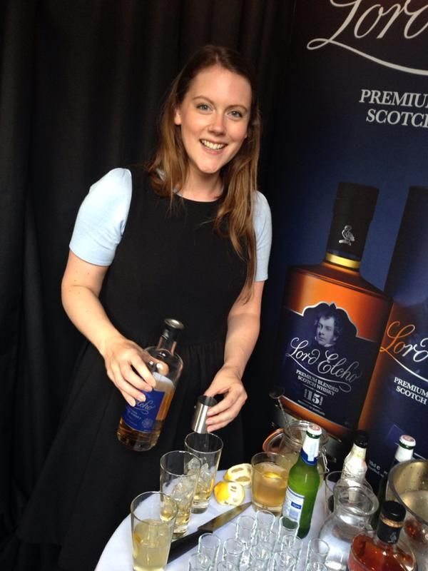 Emma mixing Lord Elcho cocktails at The Tailor Retailored pop up shop #Edinburgh #grassmarket #cashmere #whisky #scotch