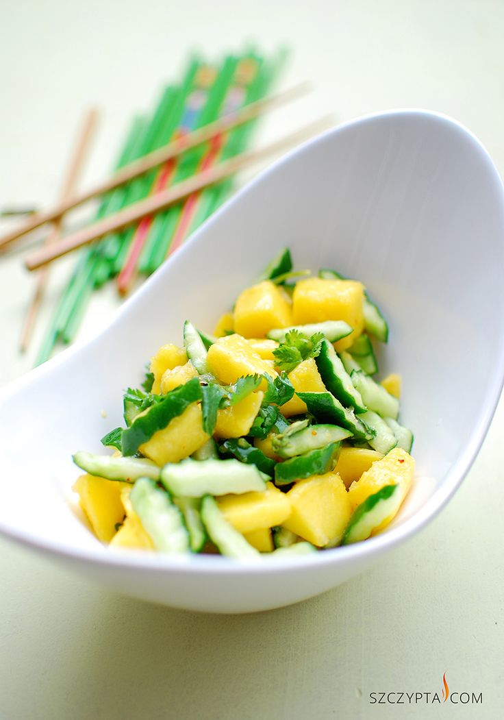 mango and cucumber salad