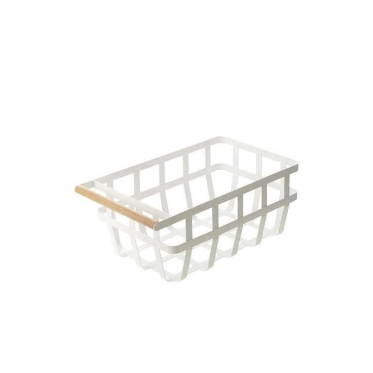 "upinteriors: "" Tosca Storage Basket with Handle by Yamazaki. """