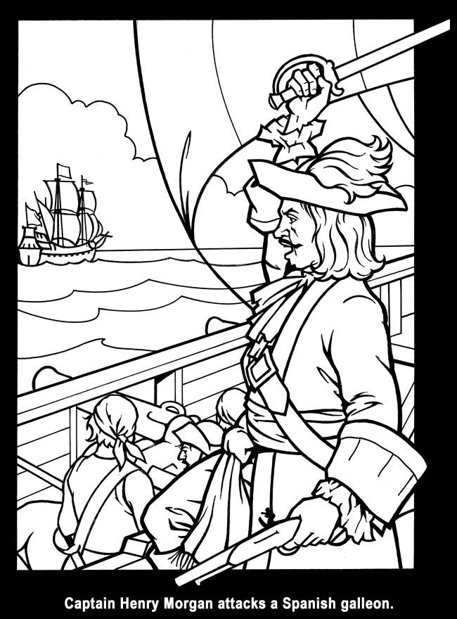 pirates stained glass coloring book dover publications