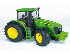 The John Deere 7930 Tractor from the Bruder Tractor collection - Discounts on all Bruder Toys at Wonderland Models.    One of our favourite models in the Bruder Tractor and Trailer range is the Bruder John Deere 7930.    What farm would be complete without a tractor? This classic tractor is made of high quality plastic for years of outdoor or indoor play.