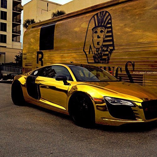if you are rich enough to buy an r8 why not coat it in gold