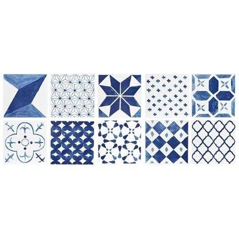 Kakeldekor TILE. 10-pack. Kakeldekor med mönster. Förpackningen innehåller 10 ark med olika mönster. Passar kakelplattor med mått 15x15 cm.  Finns i flera färge