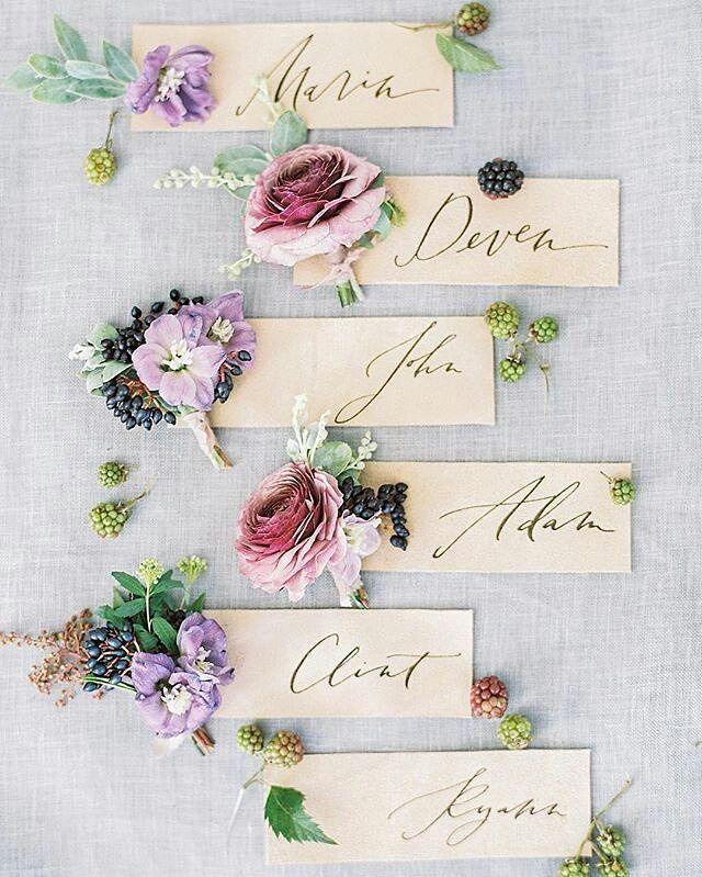 海外花嫁に学ぶ!可愛すぎる席札の作り方20選* | marry[マリー]