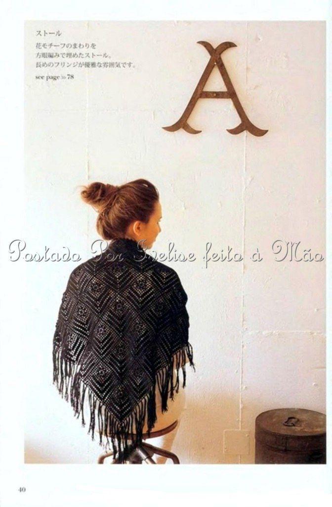 Mejores 15 imágenes de Crochet shawl en Pinterest   Chal de ...