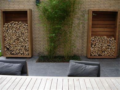 25 beste idee n over haardhout opslag op pinterest houtopslag haardhout en haardhout rek - Veranda met stenen muur ...
