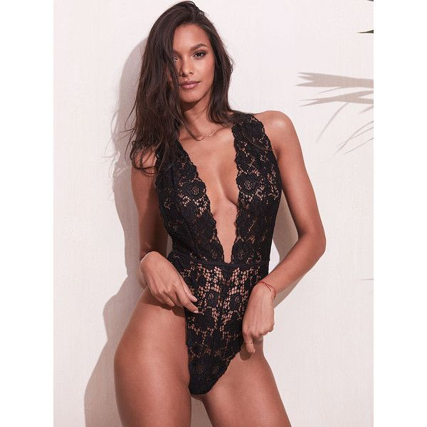 Victoria's Secret Crossback Lace Plunge Teddy ($58) ❤ liked on Polyvore featuring intimates, lingerie, purple, victoria secret lingerie, sheer lace lingerie, sheer lingerie, see through lingerie and victoria's secret