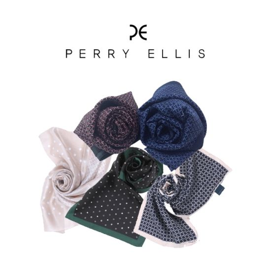 특별한 날에는 딱딱한 넥타이 대신 세련된 실크 스카프를 두르는 센스! #엘롯데 #페리엘리스 #실크스카프 #perry_ellis
