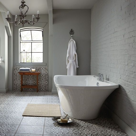 Love these floor tiles from the bath store for...summerhouse floor?