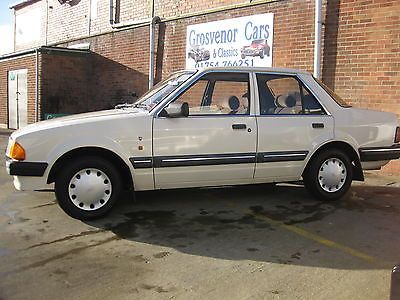 1986 Ford Orion Ghia Auto, Cream, 37650 Mls.  - http://classiccarsunder1000.com/archives/27485