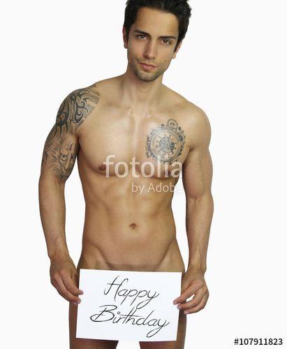 """#beau mec #sexy #nue #homme #mignon #mannequin #man Téléchargez la photo libre de droits """" sexy happy birthday - handsome man naked"""" créée par rdrgraphe au meilleur prix sur Fotolia.com. Parcourez notre banque d'images en ligne et trouvez l'image parfaite pour vos projets marketing !"""