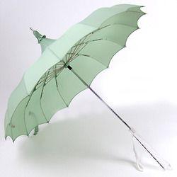 mint groen; paraplu