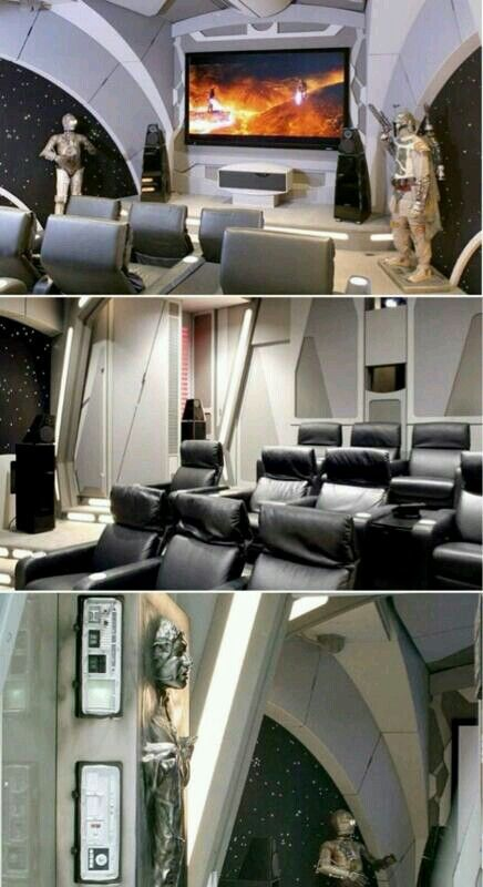 Star Wars Man Cave - I wouldn't ever do this, but ...