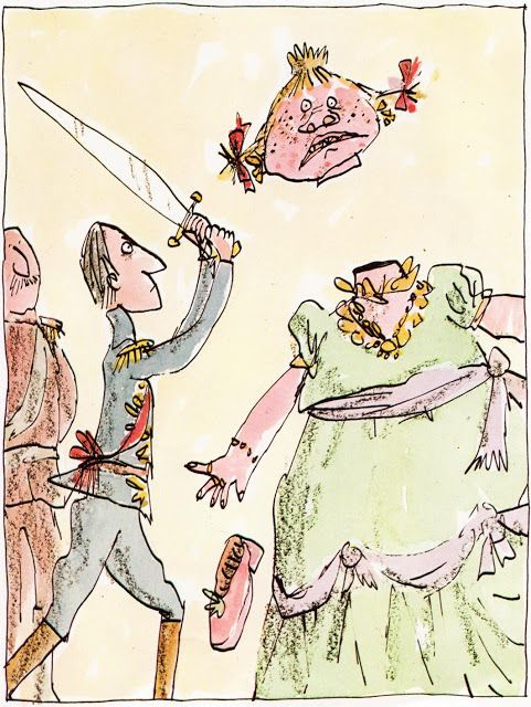 Cinderella - Roald Dahl's Revolting Rhymes book - art by Quentin Blake