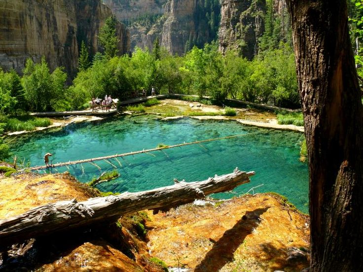 Hanging Lake, near Glenwood Springs, CO. This place is way cool. I dove into this lake and it was freezing!