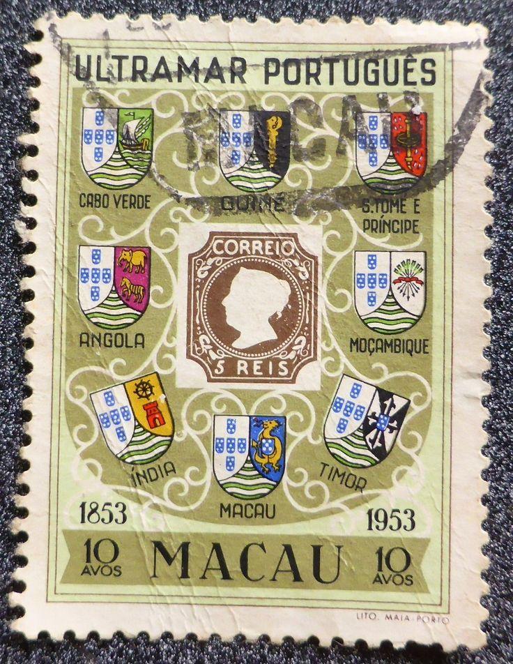 The 100th Anniversary Postage Stamp of Ultramar Português (Portuguese Empire): Macau, 1953