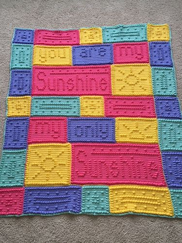 Free Crochet Pattern For You Are My Sunshine Blanket : 172 best images about schick mit Strick und H?kelei on ...