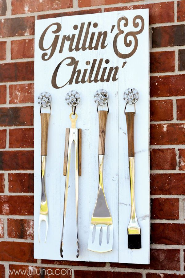 Having the supplies easily accessible and organized will make your next barbecue even better.