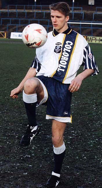 David Beckham en el Preston North End, 1995.