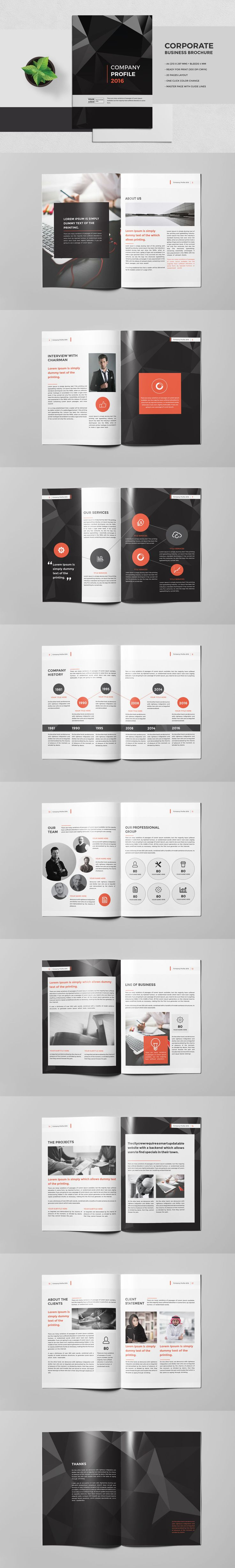 The Company Brochure Template InDesign INDD - 20 Pages
