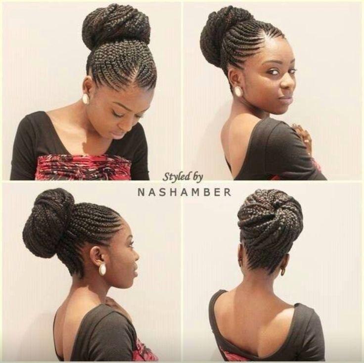 French braids and bun