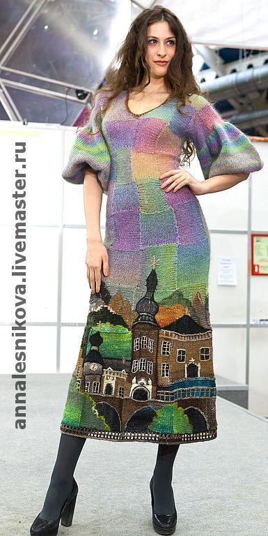 """Купить платье """"Замок"""" - мода, вязаное платье, авторский трикотаж, самое красивое платье"""