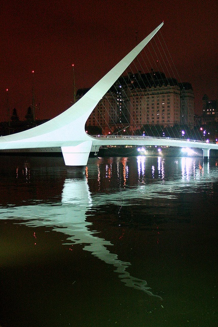 The Puente de la Mujer, designed by Santiago Calatrava, is a footbridge in the Puerto Madero district of Buenos Aires, #Argentina.