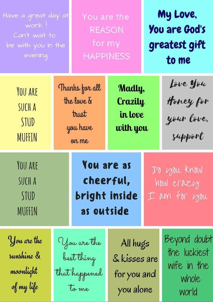 Sweet Romantic Love Notes For Your Husband Free Printable
