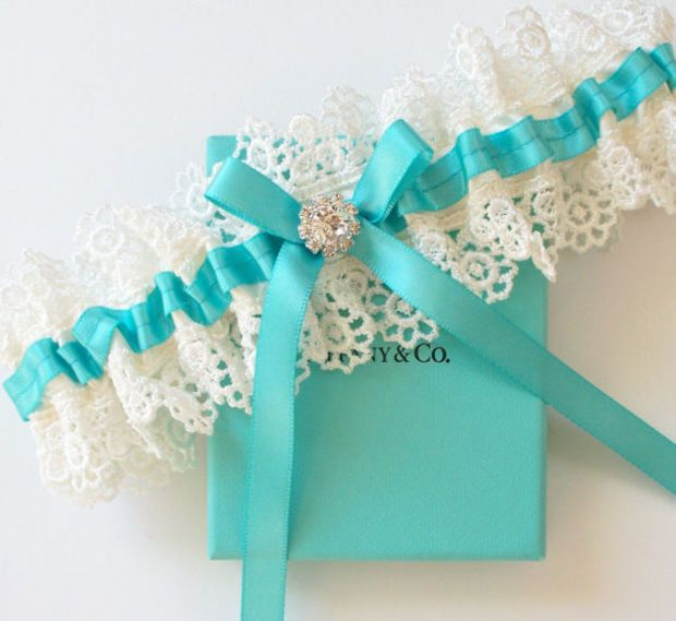 TIFFANY Blue Wedding Garter   The ALLIE Garter by JLWeddings