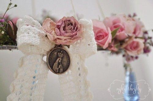 {wire hanger chandelier}