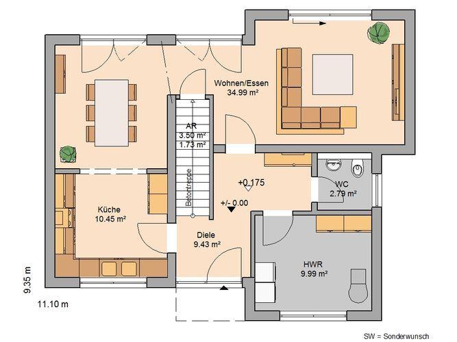 Bauhaus Modus von Kern-Haus | Offene Raumstruktur