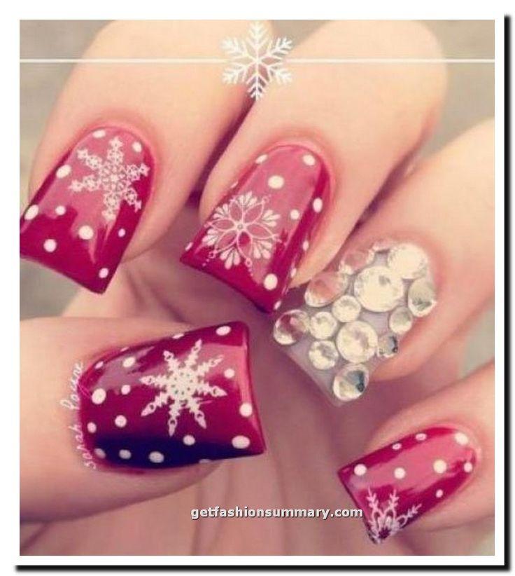 Pink New Year Nail Art