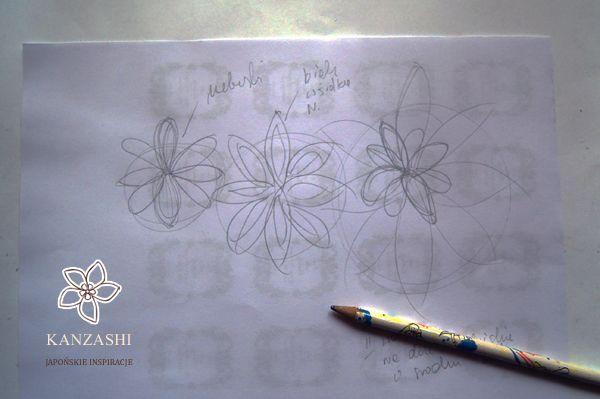 B-Artwork - Kanzashi: Niebieskie Kanzashi