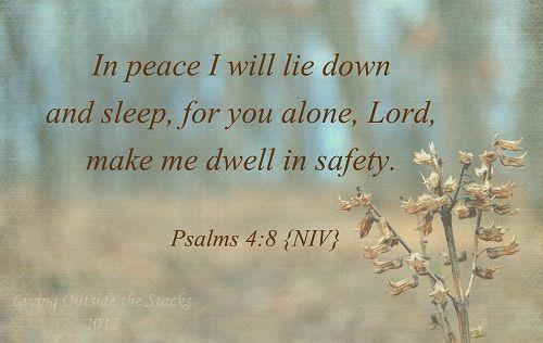 Peaceful memory verse Psalm 4:8