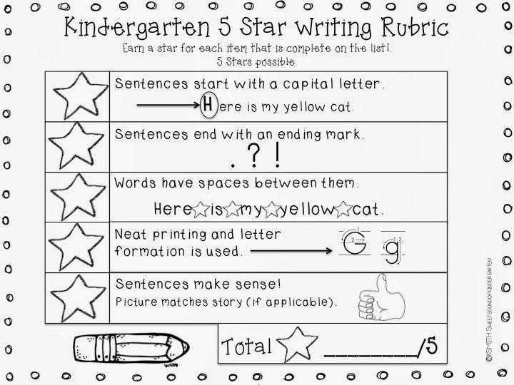 Kindergarten Writing Rubric!