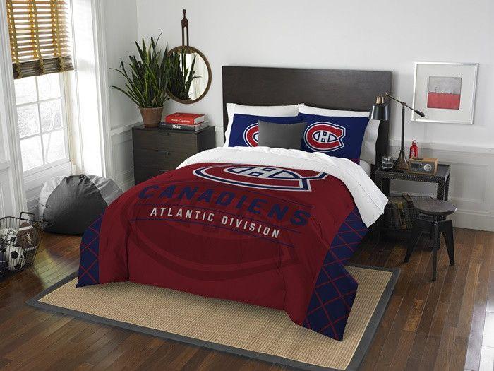 Montreal Canadiens NHL Draft Full-Queen Comforter Set. Includes 2 Shams and Comforter. Visit SportsFansPlus.com for Details.