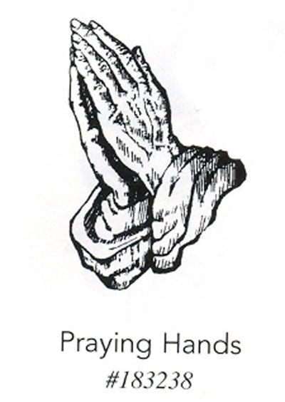 drawings of praying hands with roses