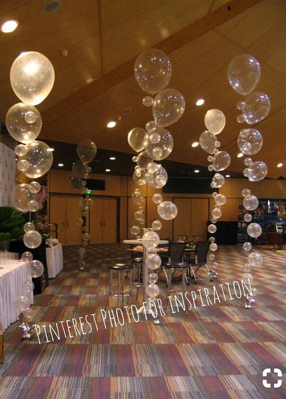 Under The Sea Party Backdrop Diy Bubble Balloon Strands Kit With