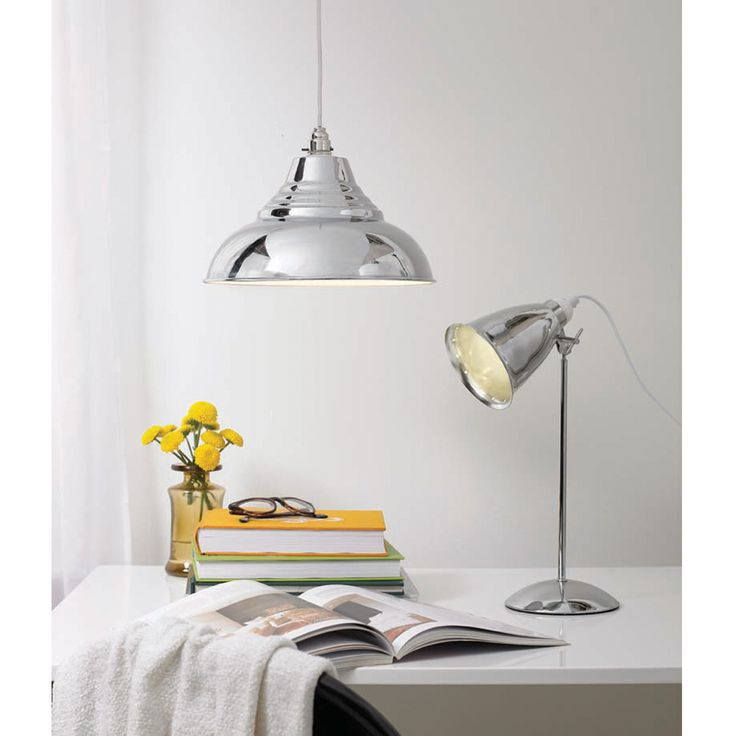 Kafe metal desk lamp chrome